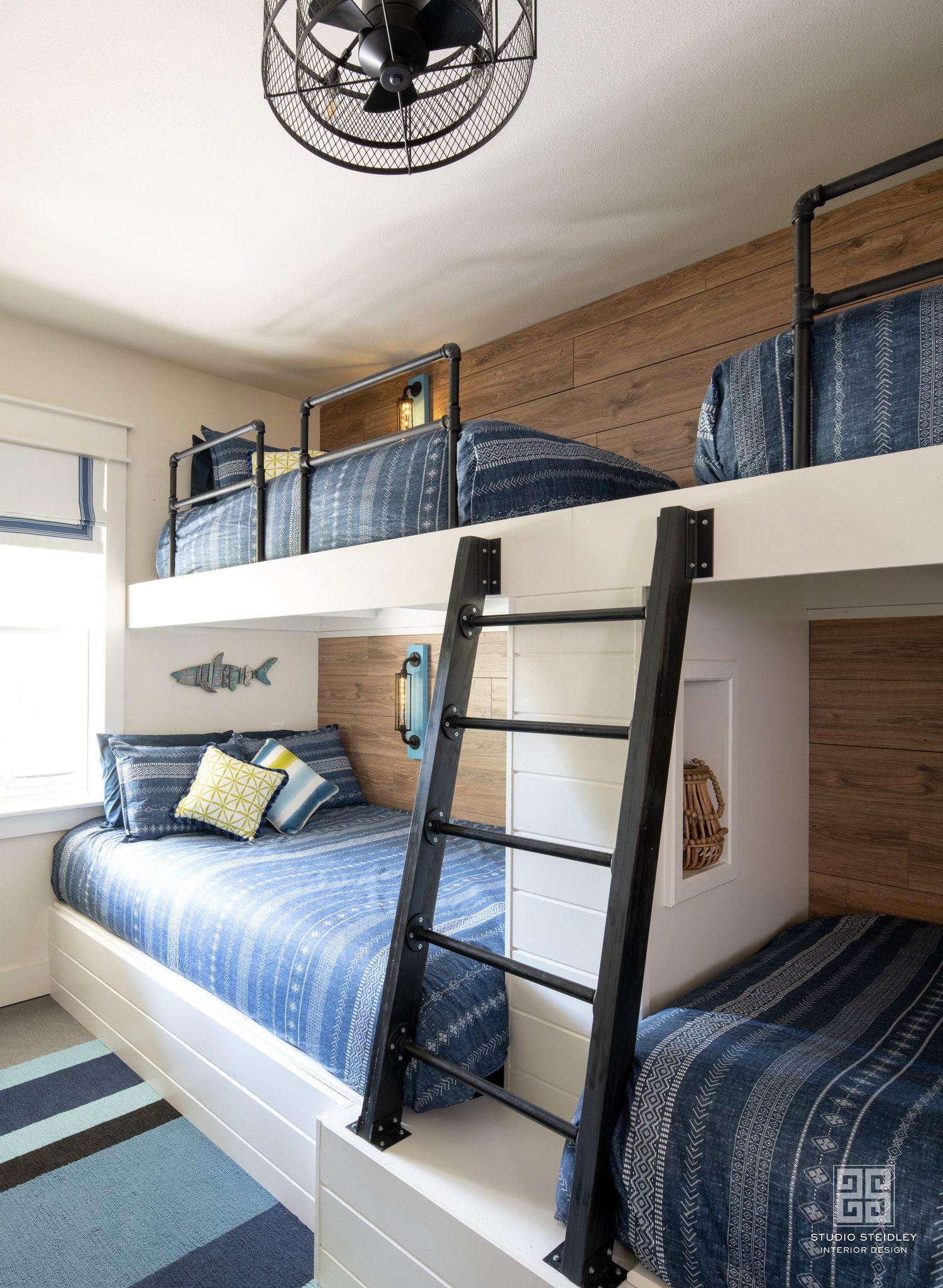 Nautical Bunkroom Design By Studio Steidley Bunk Beds Wooden Bunk Beds Bunkbed Room Ideas