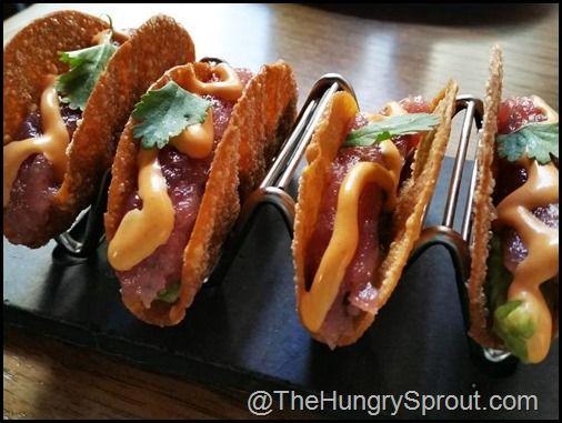 Ahi Tuna Tacos at Del Frisco's Grille - NYC