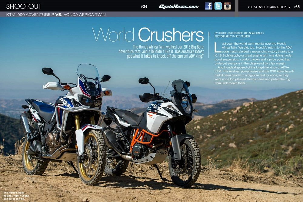 Ktm 1090 Adventure R Vs Honda Africa Twin Shootout Honda