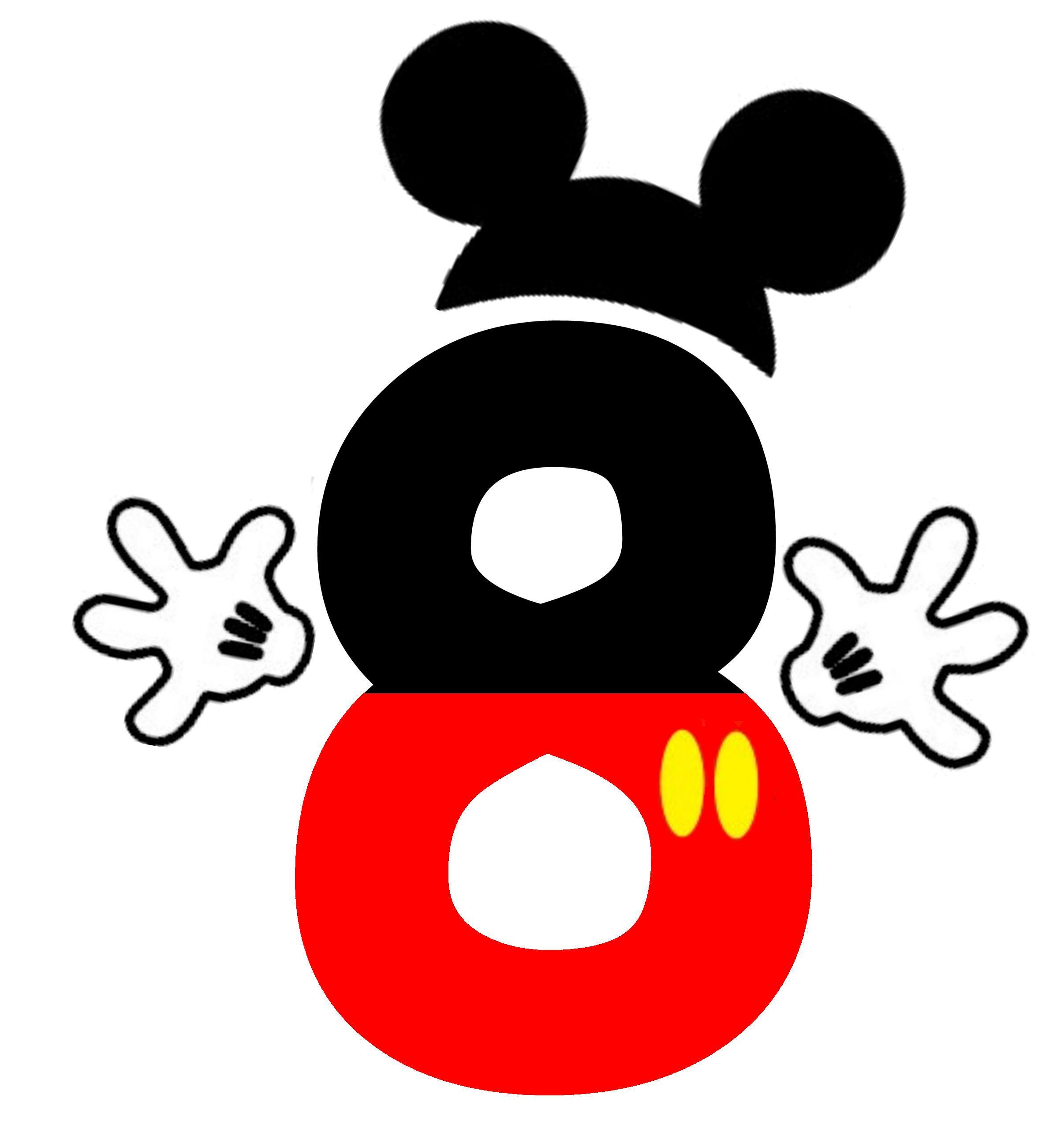 Mickey 8 clipart pinterest mice disney letters and clip art mickey 8 biocorpaavc