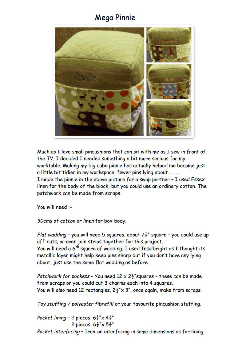 Mega Pinnie - Updated.pdf | Free sewing patterns | Pinterest