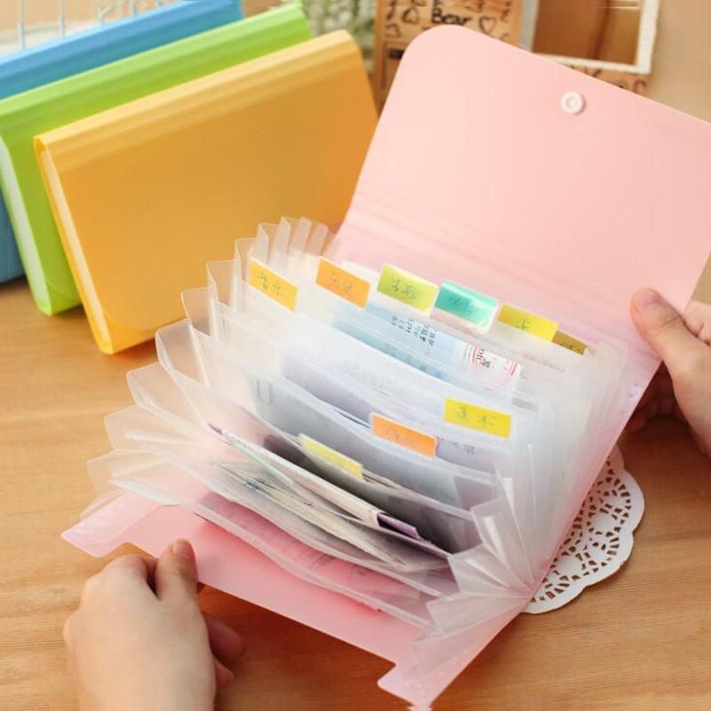 Candy File Folder (A6 Size) is part of Bill Organization Folder -  Product DescriptionWhile the colors are interesting, the real purpose of these Expanding Folders is to have your documents organized, so they are not misplaced, and compact enough to carry along Size About17 8 cm x 11 5 cm x 2 8 cmWeight About 80g