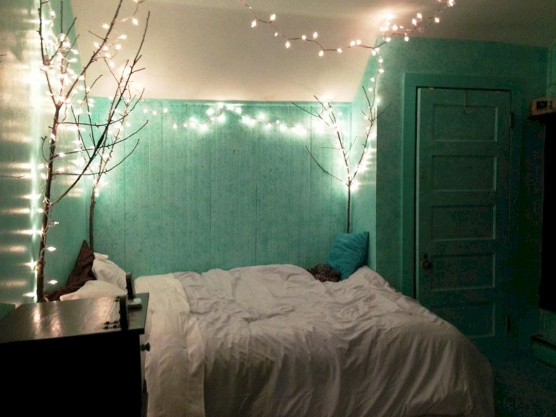 Mint Green Room with Lights Tumblr 35
