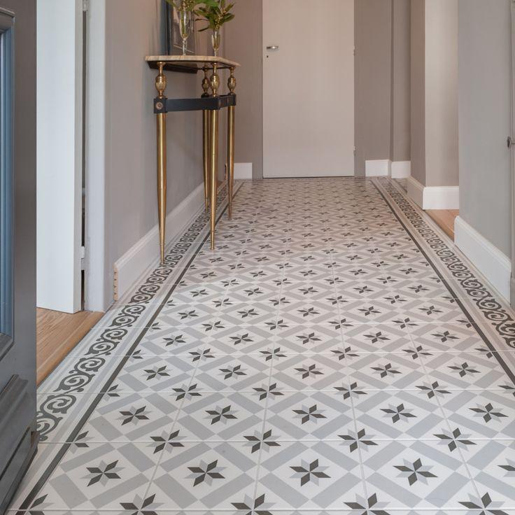 Mixer parquet chevron et carreaux de ciment - Plinthe Salle De Bain