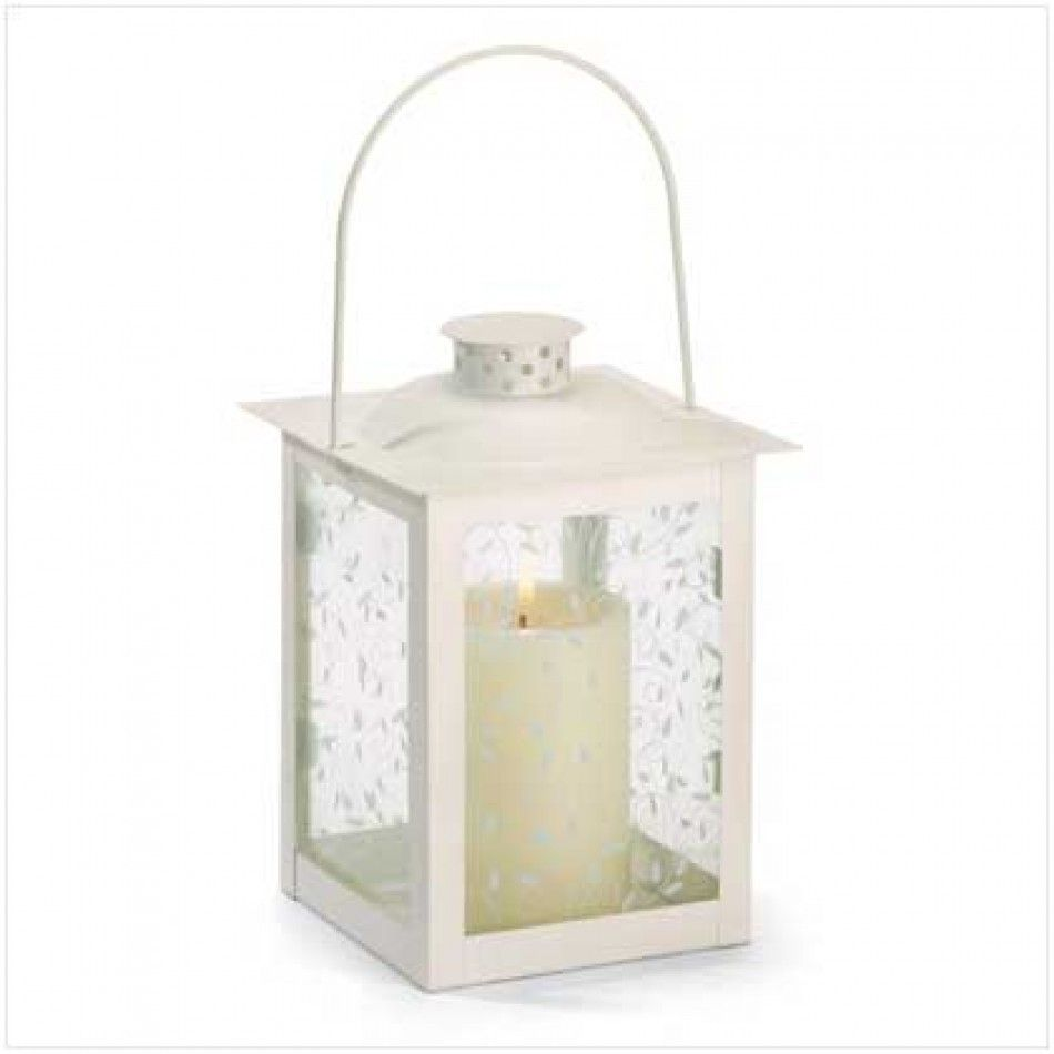 Large White Glass Lantern [37441 Graceful White Lantern] : Wholesale ...