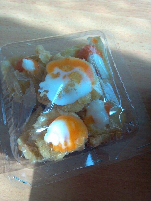 Tahu Brintik Aka Tofu Crispy With Mayonaise Sauce N Chilli Sauce
