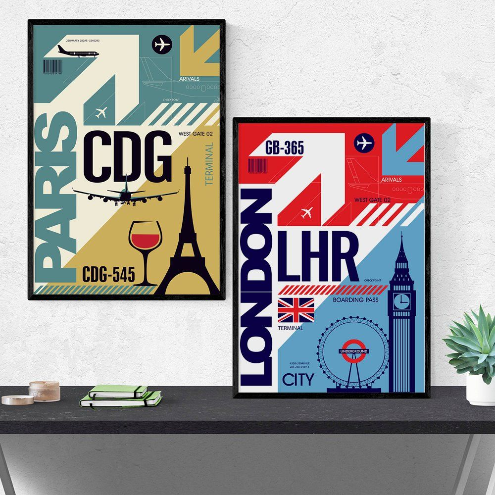 Airport Code Poster Paris Airport Poster Airport Wall Art Graphic Poster Wall Decor Printable Poster Housewarming Gift Etsy Wall Art Paris Poster Graphic Poster