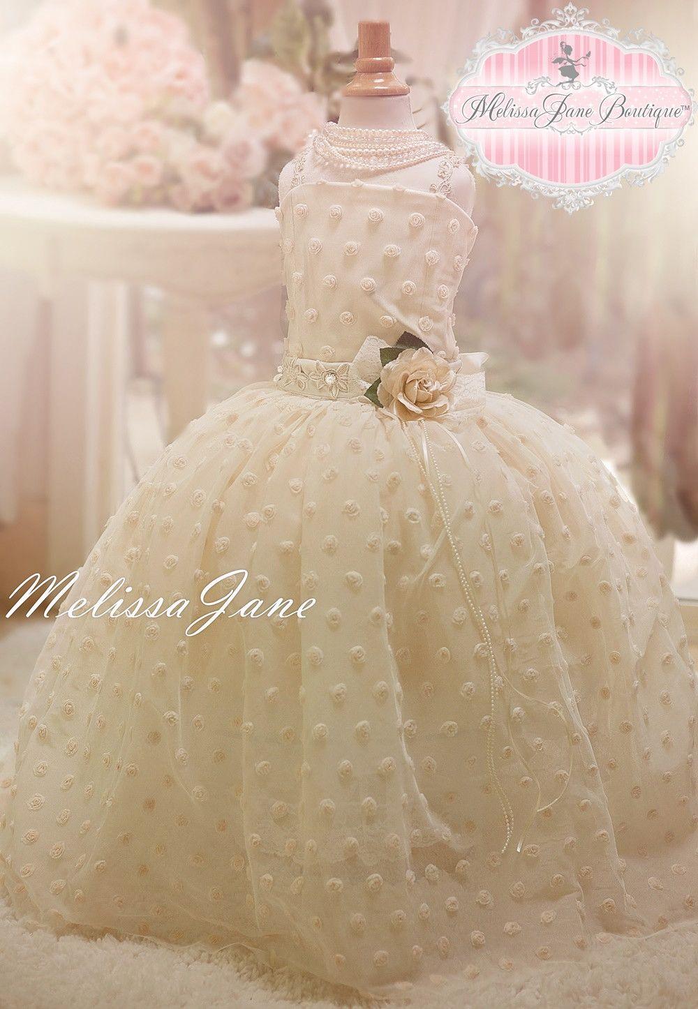 Darling Little Rosebud Flower Girls Dress Toddler Dresses Kids