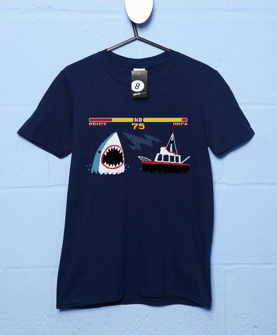 Shark Fighter 2 T-Shirt - Navy / Large
