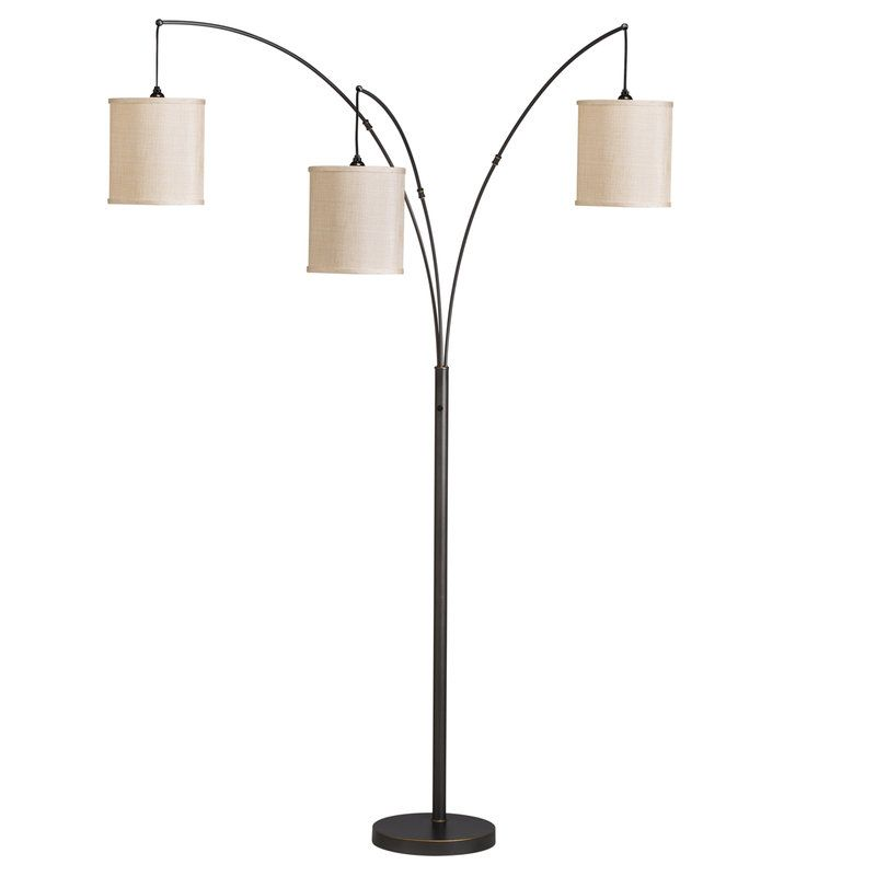 View The Kichler 74264 Light Arc 3 Light Floor Lamp At