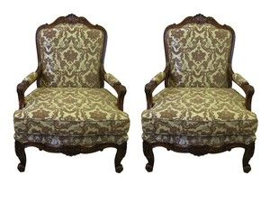Pair OF Magnificent French Louis XV Style Well Carved ARM Chairs   eBay