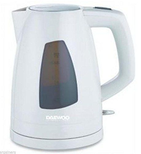 Price: $27.25 - http://bit.ly/2bT6xqb - Daewoo DEK-1324 220V Cordless Electric Kettle, 1.7 L, White - Capacity: 1.7L 360 Degree Cordless rotating base Large water window