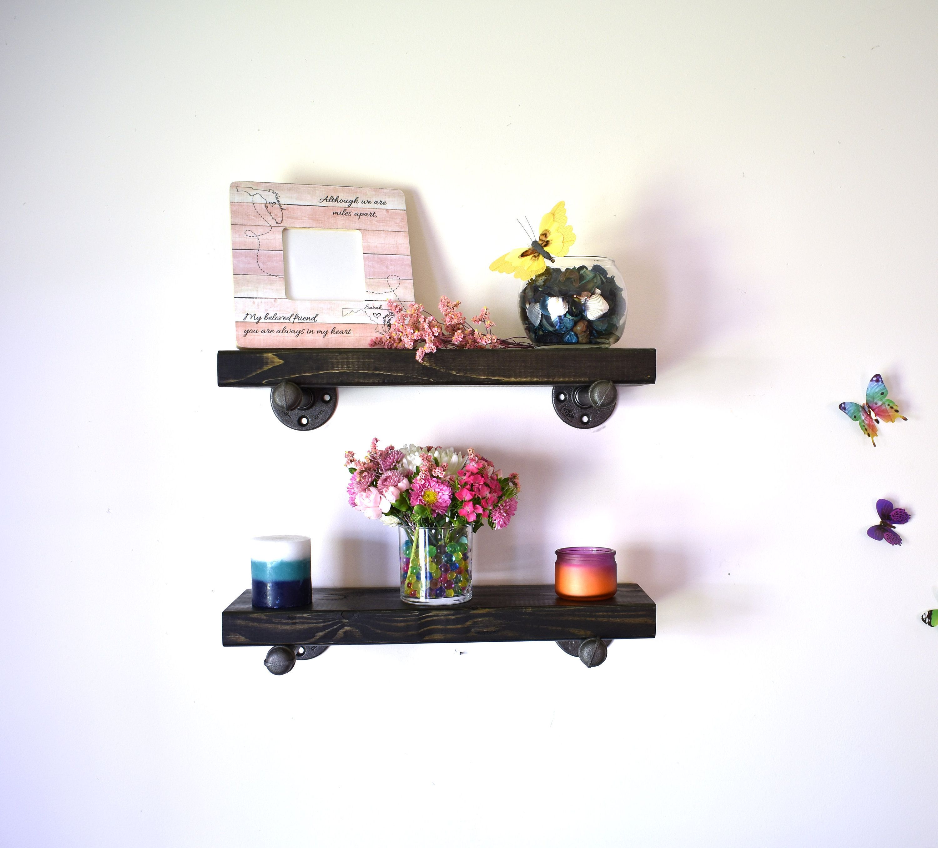 Floating Shelves Black  Wall Mounted Shelving Great For Small