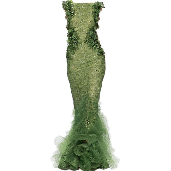 edited by Satinee - Abed Mahfouz Couture 2013 ❤ liked on Polyvore featuring dresses, gowns, long dresses, green, long green dress, green dress, couture evening dresses, couture evening gowns and couture gowns