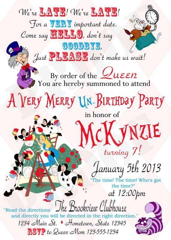 Alice In Wonderland Quinceanera Invitation