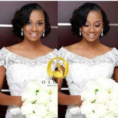 Wedding hairstyle for black women