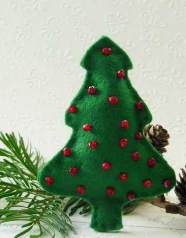 tutorial christmas felt tree Felt objects Pinterest Christmas
