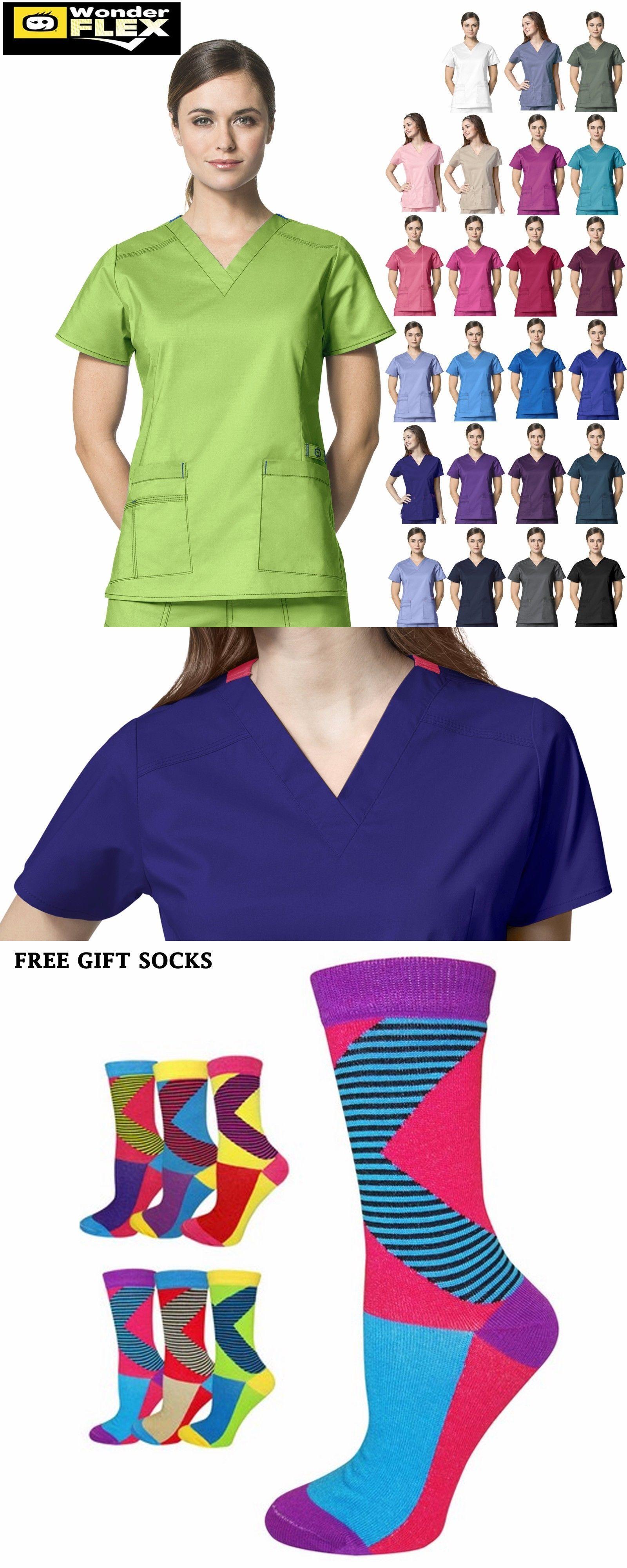 af0a602f209 Sets 105432: Wonderwink Flex [Xxs-5X] Women S V-Neck Short Sleeve Medical  Scrubs Uniforms Top -> BUY IT NOW ONLY: $23.98 on #eBay #wonderwink #women  #short ...