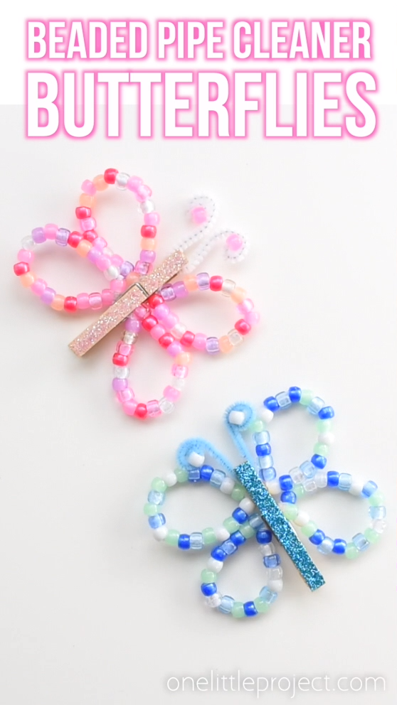 These Beaded Pipe Cleaner Butterflies Ar - Kids Crafts