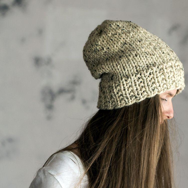 Oneness Womens Slouchy Hat Knitting Pattern Stricken Hkeln