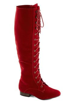 Hot hot hot!!!  Everything Bold Is New Boot in Red, #ModCloth