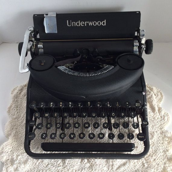 Underwood Noiseless 77 Typewriter with by CountryGirlsVintage