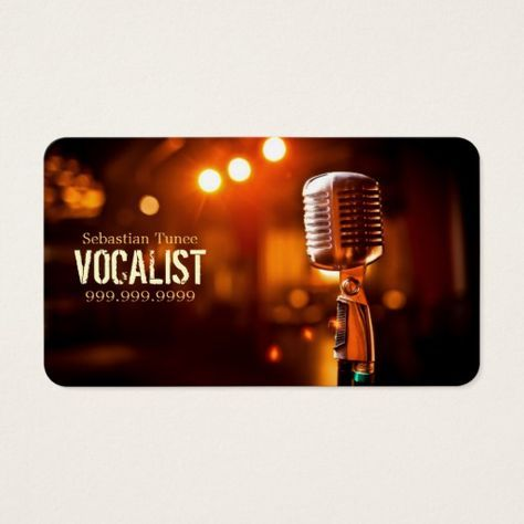 Vocalist singer performer music lessons mic business card vocalist singer performer music lessons mic business card singers business cards and business colourmoves Choice Image