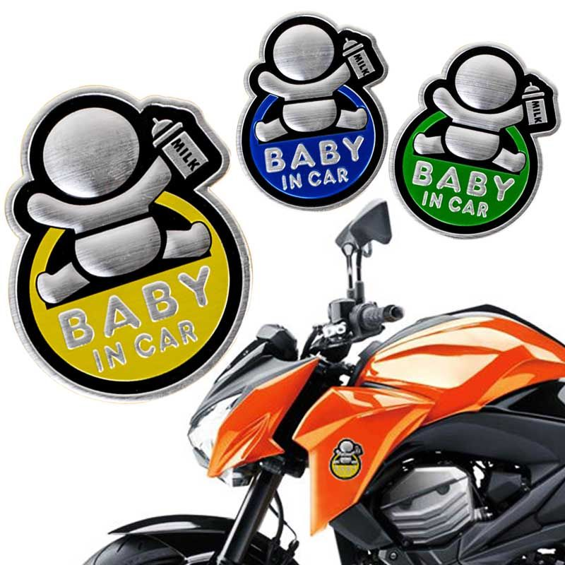 Baby In Car Milk Funny Car Auto Warning Label Rear Bumper Sticker - Funny motorcycle custom stickers decals