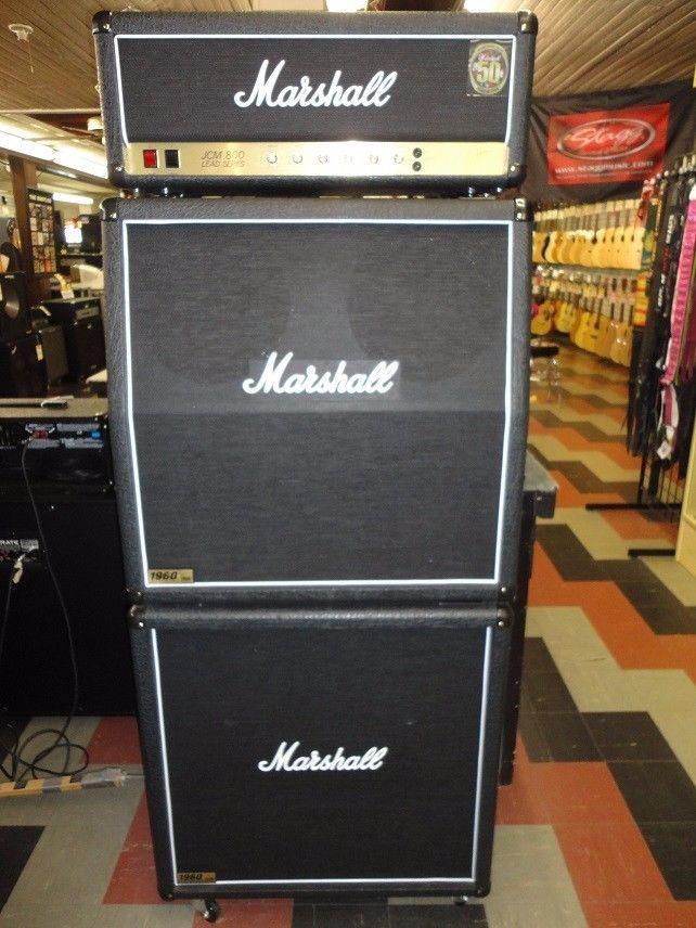 NEW MARSHALL AMP FULL STACK ALL TUBE100WATT 2203 HEAD ...