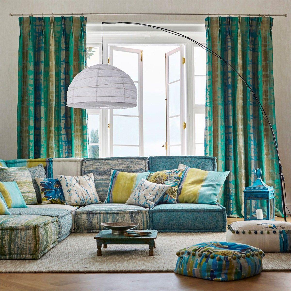 Telas para cortinas tapizar y cojines de harlequin - Tapizar cojines sofa ...