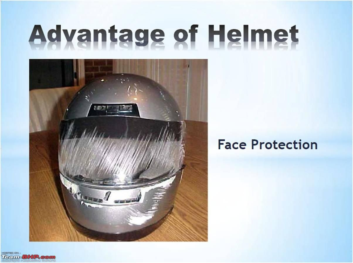 Pictorial Why you should wear a HELMET (With images