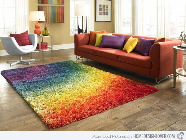 Colorful Stripe Velvet Large Area Rug Ideias De Decoracao Para Casa Colormix Moveis De Paletes