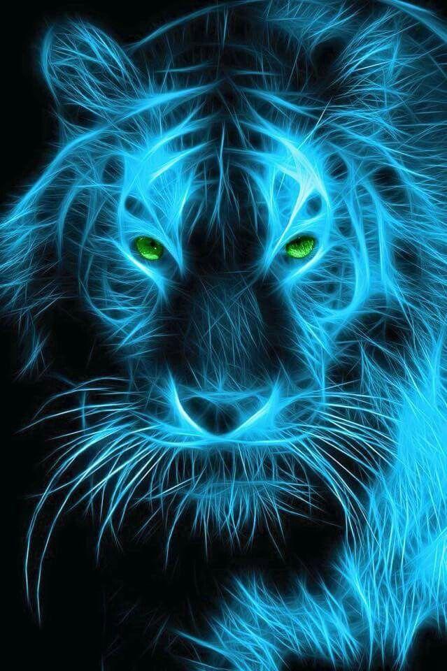Fractal Art Art Tigre Art Des Animaux Sauvages Fond D Ecran Abstrait