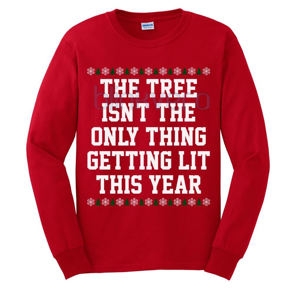 lit christmas tree funny style christmas sweater t shirt 25