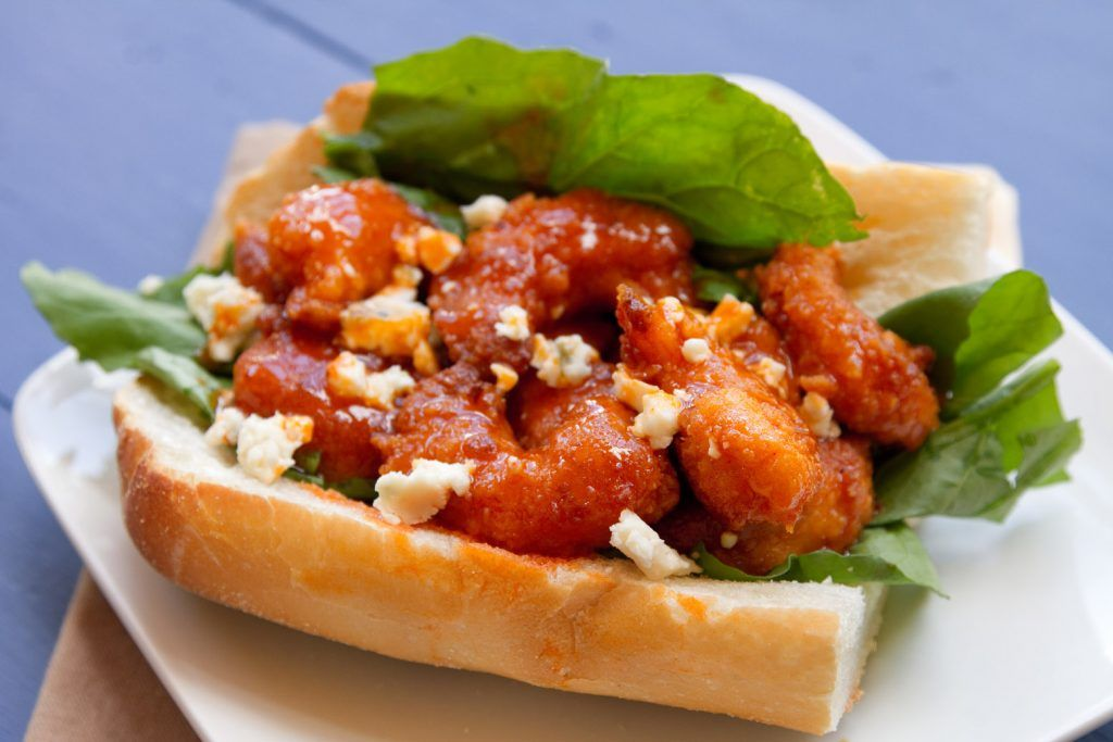 How to make a Buffalo Shrimp Po' Boy - Chef Dennis