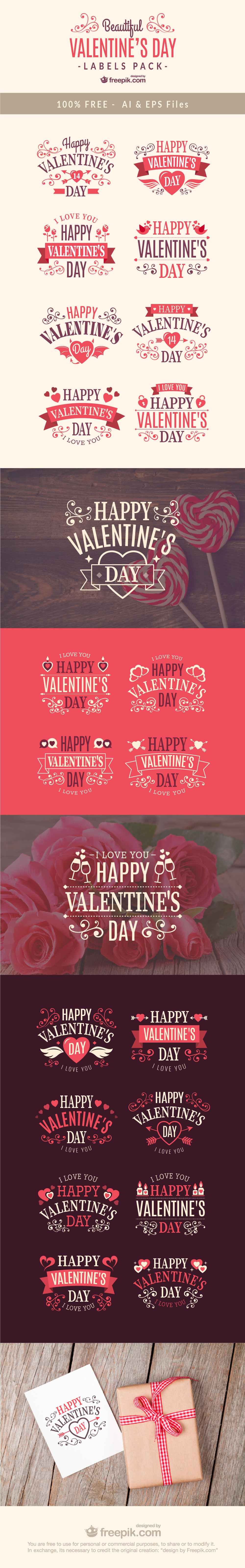 Free Valentines Day Label Designs  Free Typographic Design And Fonts
