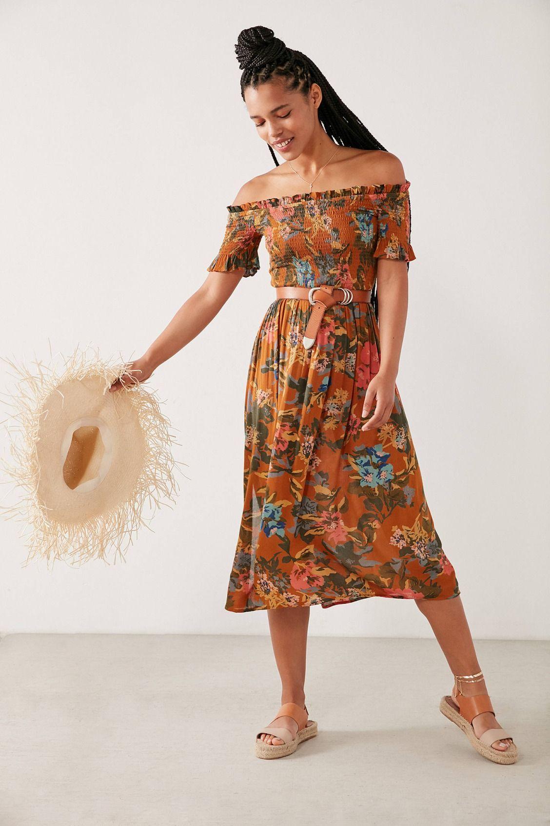 c9166fe1b Kimchi Blue Off-The-Shoulder Smocked Dress | New Arrivals | Dresses ...