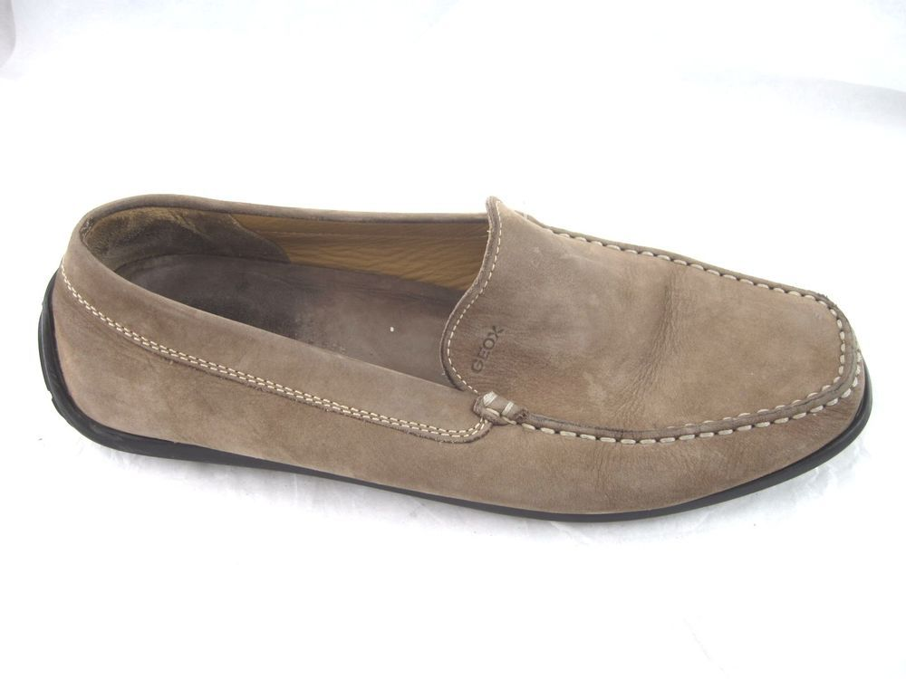 Geox brown suede driving loafers Mens slip on loafers