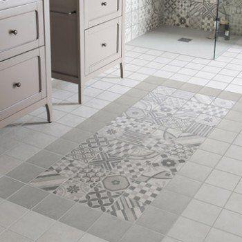 Carrelage tapis, salle de bain -- Carrelage sol et mur gris, Elliot