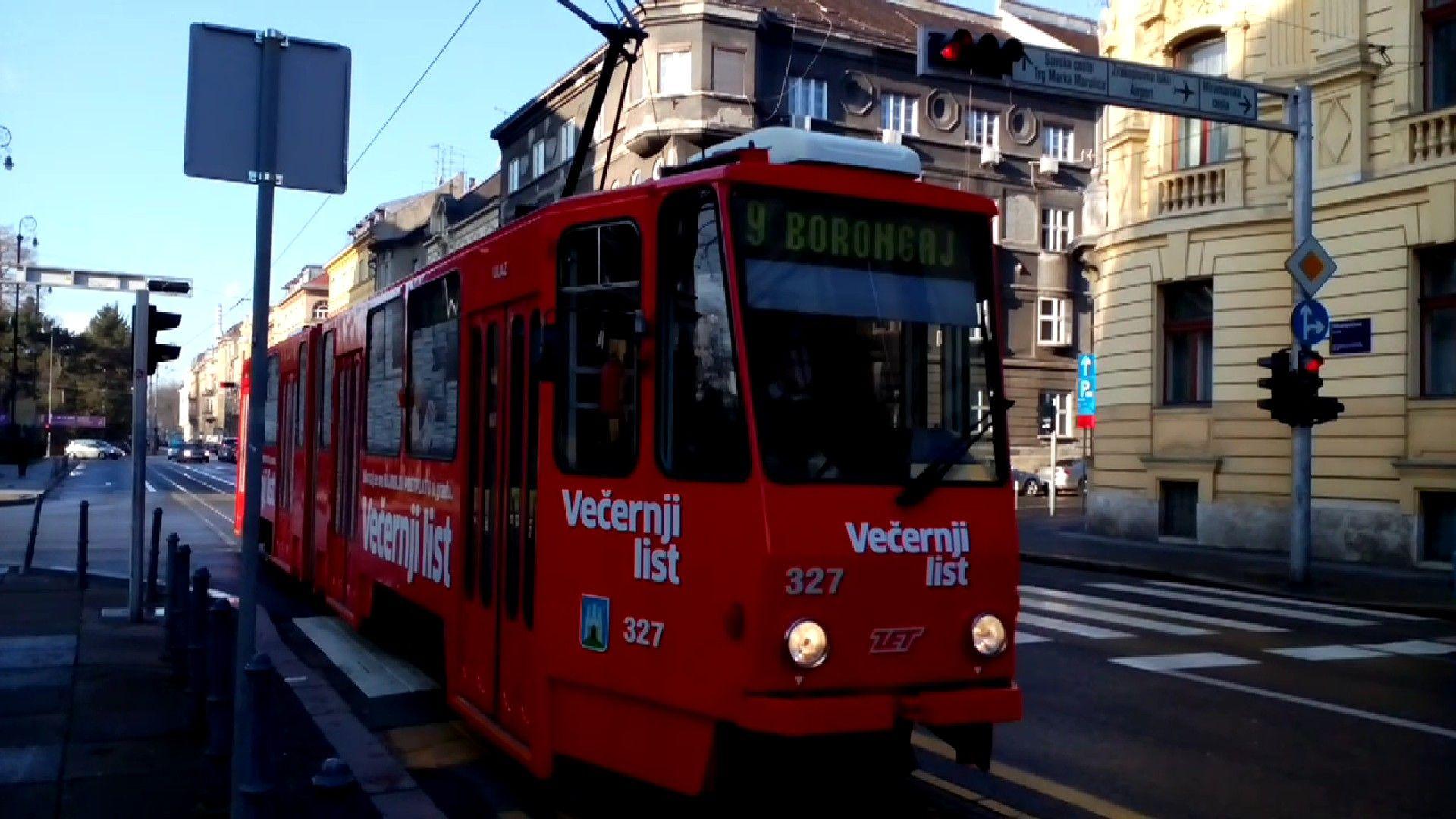 Zet Zagreb Tram Kt4yu Vecernji List Zagreb Vehicles Bus