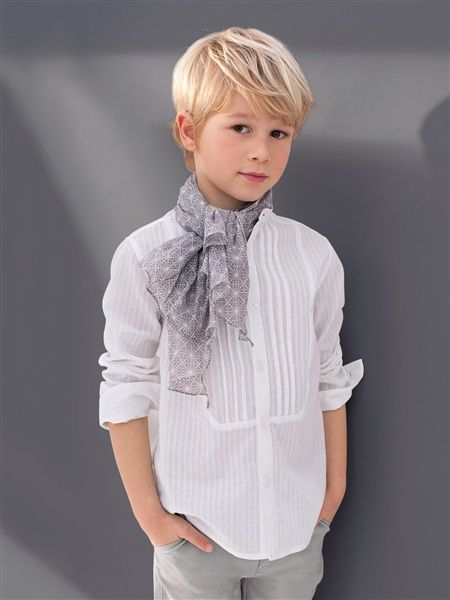 chemise col mao...friggin adorable. Love the hair for Lily