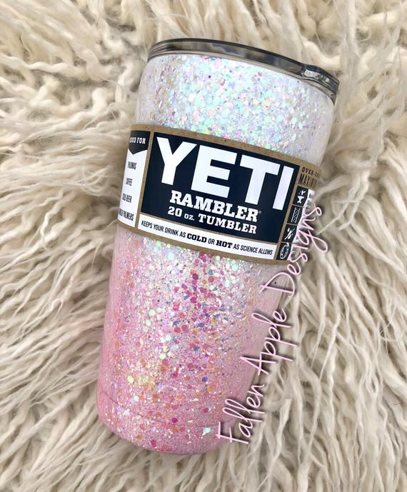 a19f06106ce This design features a chunky, iridescent and color shifting white glitter,  fading into a an iridescent baby pink glitter. The listing photo shows the  full ...