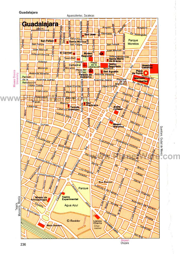 guadalajara map tourist attractions