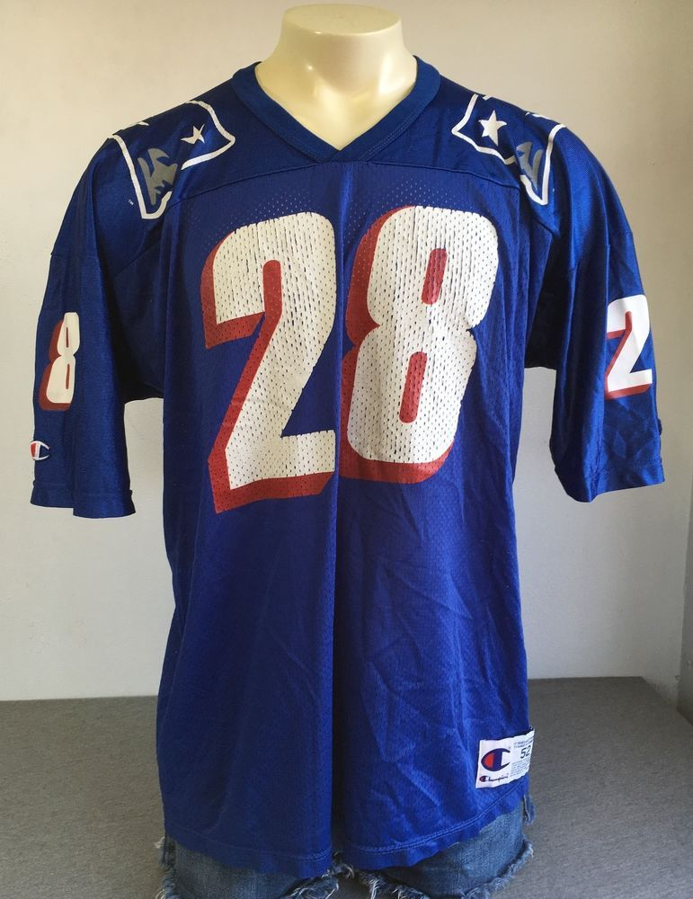 detailed look 4ccdd 0ca2c PATRIOTS JERSEY CURTIS MARTIN 90s New England CHAMPION NFL ...