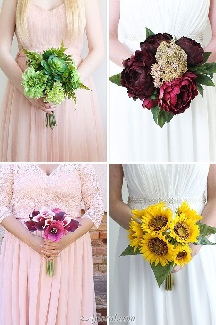 Find Stunning Pre Made Silk Flower Bouquets For Your Fall Wedding At