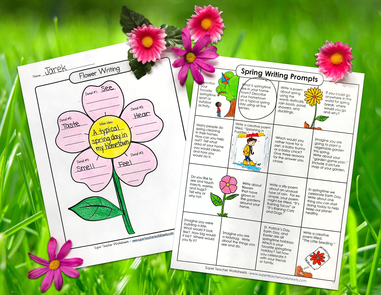 Spring Into Learning Spring Worksheet Super Teacher Worksheets Math Sheets [ 2321 x 3000 Pixel ]
