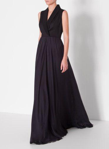 80116c634ef0 Luxusní dámské společenské dlouhé šaty v černé barvě