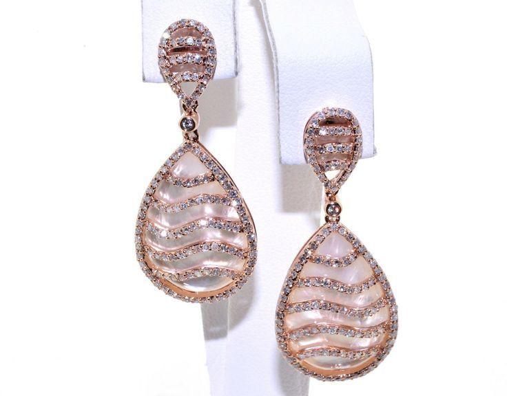 rose pearl teardrop earrings inside rose gold