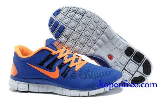 nike free run blauw oranje