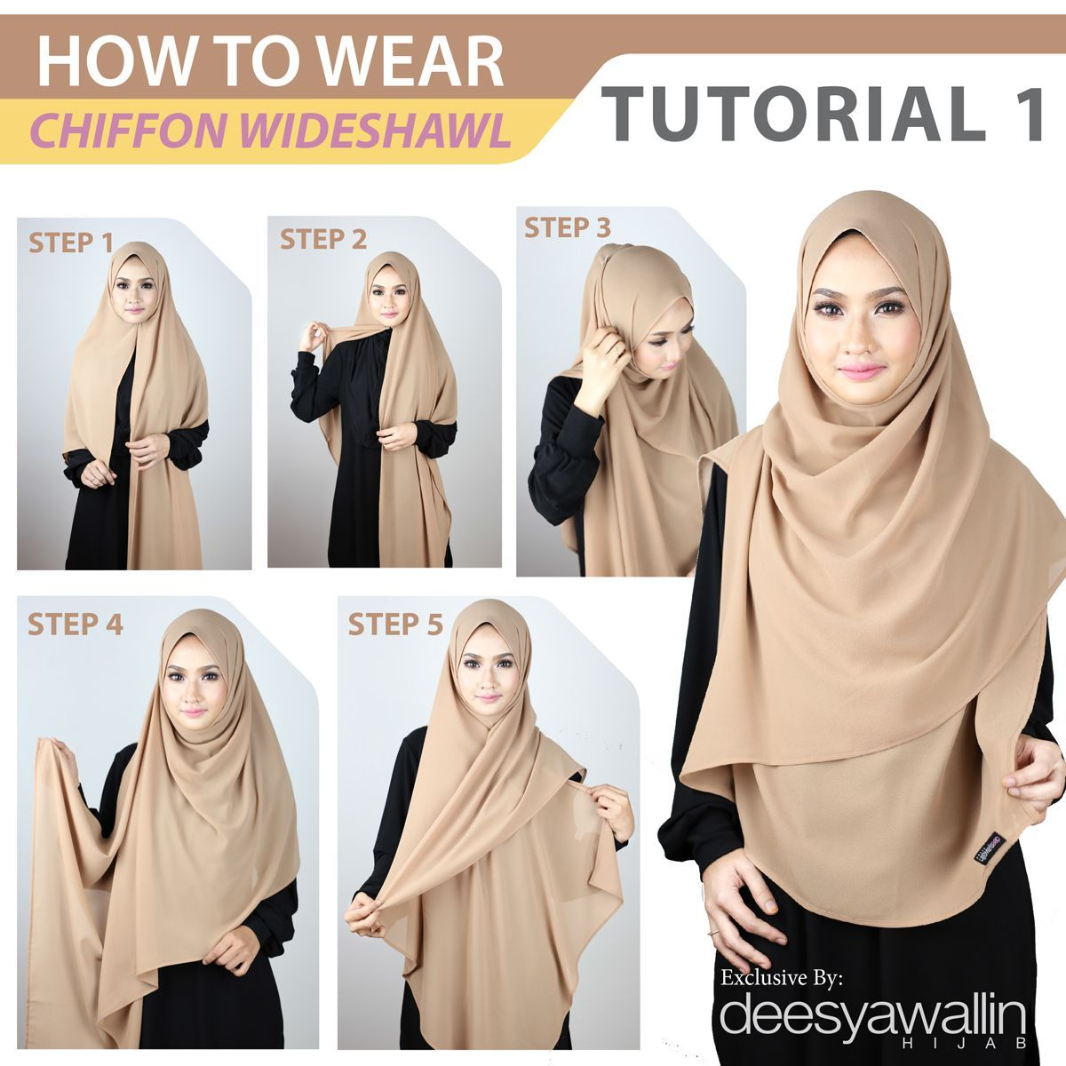 Tutorial Chiffon Wideshawl Facebook: Closet Heart Official